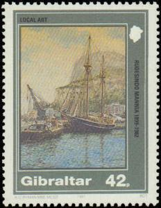 1991 Gibraltar #596-599, Complete Set(4), Never Hinged