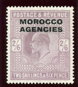 Morocco Agencies 1907 KEVII 2s6d pale dull purple MLH. SG 38. Sc 208.