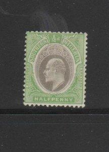 SOUTHERN NIGERIA #32  1908  1/2p  KING EDWARD VII    MINT VF LH O.G