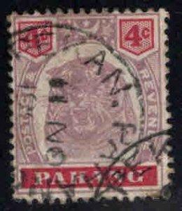 MALAYA-Pahang Scott 14A Used Tiger stamp