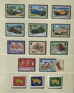 JE100) Jersey 2010 Vintage Cars (6) + Archaeology (5) + Maps/Christmas P&S MUH