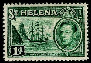 ST. HELENA SG132, 1d green, LH MINT. Cat £11.