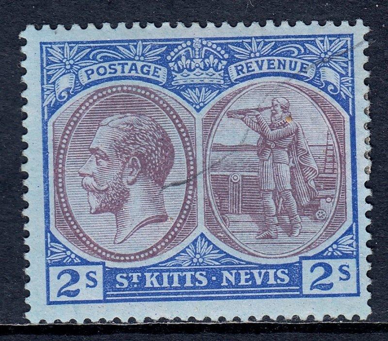St. Kitts and Nevis - Scott #32 - MH - Pen mark, full gum - SCV $16