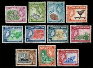 Pitcairn Islands #20-30 Complete Set of 11; Unused (2Stars)