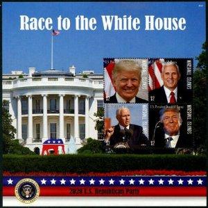 HERRICKSTAMP NEW ISSUES MARSHALL ISLANDS US Election 2020 Sheet II
