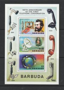 Barbuda 1977 Telephone 8 copies MS UM SG MS297