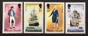 Pitcairn Islands 1976 #156-9, U.S. Bicentennial, MNH.