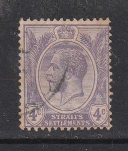 Straits Settlements 1921 Sc 184 KGV 4c violet Used