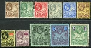 BARBADOS-1912-196  A lightly mounted mint set to 3/- Sg 170-180
