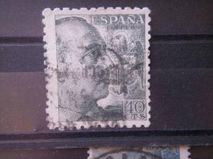 SPAIN, 1940, used 40c, Franco, Scott 691