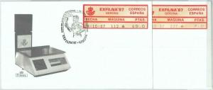 82728 - SPAIN - Postal History - FRAMA LABEL on 2 COVERS: OLYMPIC GAMES  1987