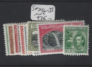 TRINIDAD AND TOBAGO  (P2005B)  KGVI SET TO $1.20 SG 246-255   MOG