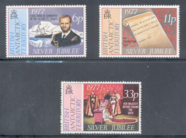 British Antarctic Territory Sc 68-0 25th Anniv QE II  NH