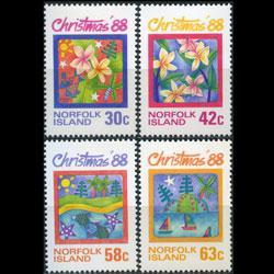 NORFOLK IS. 1988 - Scott# 440-3 Christmas Set of 4 NH