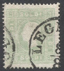 AUSTRIA Lombardy-Venetia 1862  Sc 9  3s Type II, LEGNANO  cancel, CV $140