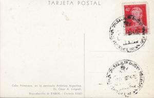Antarctica Argentina Naval Base 1959  Card Dr.Cesar Lisignoli Cabo Primavera