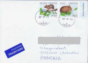 LITHUANIA MOUSE FAUNA COVER TO ARTSAKH NAGORNO KARABAKH ARMENIA R18209