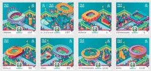 Isle of Man 2021 MNH Stamps Sport Football Soccer European Championships Stadium