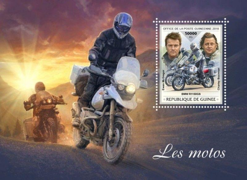 Guinea - 2018 Motorcycles on Stamps - Stamp Souvenir Sheet - GU18401b