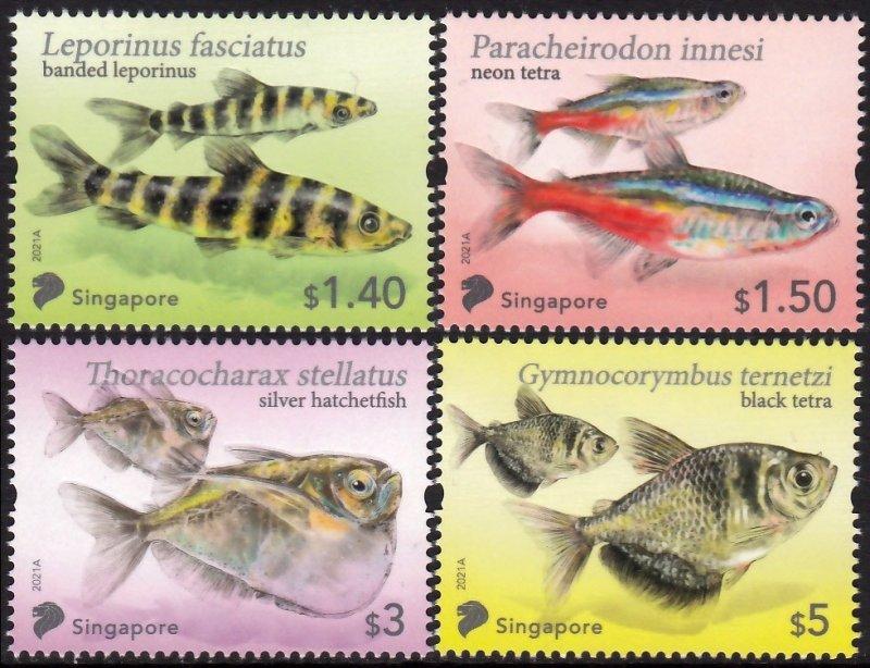 SINGAPORE 2021 TETRA FISH POISSONS FISCHE PESCE PESCADO MARINE FAUNA [#2105]