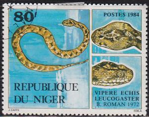 Niger 666 Echis Leucogaster Viper, Snake 1984