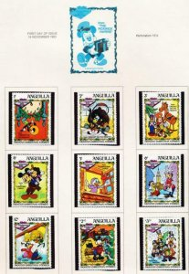 DISNEY ANGUILLA 547-555 MINT NH PICKWICK PAPERS