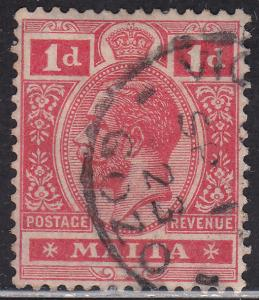Malta 51 Hinged 1915 King George V