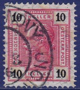 Austria - 1904 - Scott #97a - used - NEUTITSCHEIN pmk Czech Republic