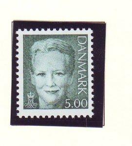 Denmark Sc 1122 2000 5.00 kr dark green Queen Margrethe II stamp mint NH