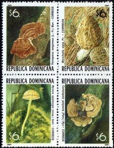 Dominican Republic Mushrooms Sc 1383 Block OF 4 MNH 2001