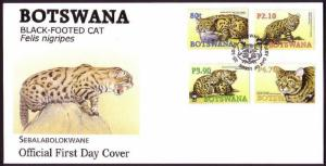 Botswana WWF Black-footed Cat FDC SG#1040-1043 MI#817-820 SC#806-809