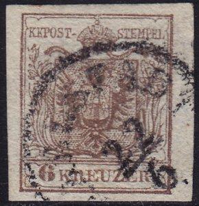 Austria - 1854 - Scott #4b - used - Coat of Arms