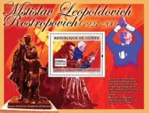 Guinea - Mstislav Rostropovich -  Stamp Souvenir Sheet  7B-682