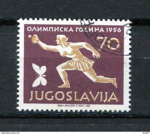 Yugoslavia 1956 Olympic Games key stamp Mi 810 Sc 467 Used 11492