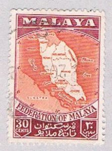 Malaya Federation 83 Used Map of federation (BP22921)