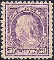 517 50 cent Franklin, Red Violet Stamp mint OG NH XF