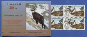 R793 -  SLOVAKIA 1996 4sk Nature Protection, MOUNTAIN GOAT, Complete Booklet