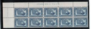Canada #145 Very Fine Never Hinged Plate #2 UL Block Of Ten
