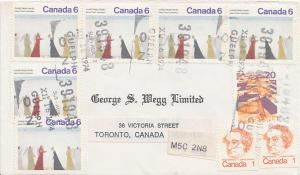 Canada 1c Macdonald Caricature (2), 6c Nativity by Lemieux Christmas (6) and ...