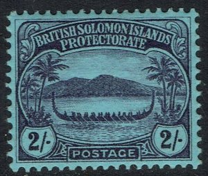 BRITISH SOLOMON ISLANDS 1908 SMALL CANOE 2/-
