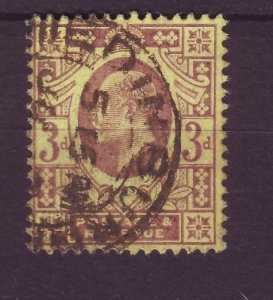 J24537 JLstamps 1902-11 great britain used #132 king