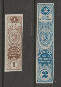 Paraguay Revenue Fiscal Stamp Cinderella- 5-14