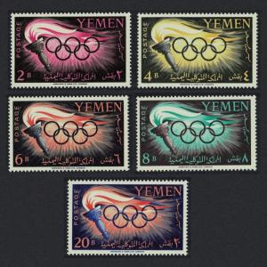Yemen Olympic Games Rome 5v SG#126-130 SC#98-102