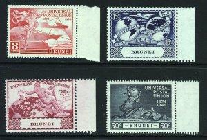BRUNEI 1949 The U.P.U. 75th. Anniversary Set SG 96 to SG 99 MNH