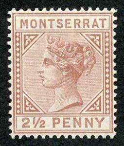 MONTSERRAT SG4 1880 2 1/2d red-brown wmk CC M/M