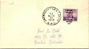 1934 Jacksonville & Tampa R.P.O. Railway Post Office #171