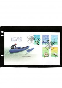Cocos Island 2013 50yrs of Stamps  FDC