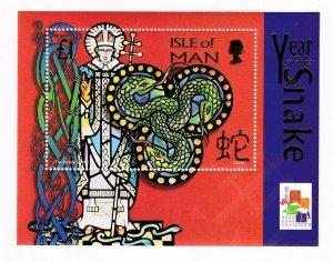 ISLE OF MAN YEAR OF THE SNAKE VF-MNH S/SHEET