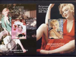85th.Anniv.Birth Marilyn Monroe (1926-1962) 2 S/S perf.Chad