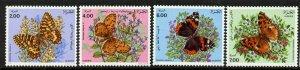 Algeria 945-8 MNH Butterflies, Flowers